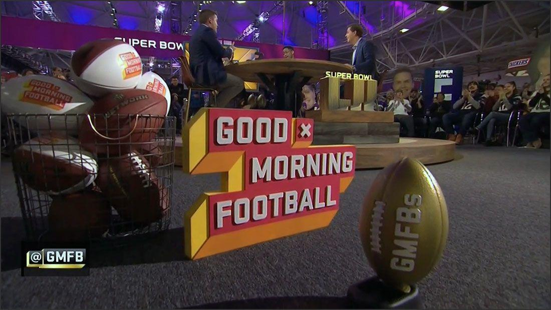 3d printed and painted super bowl trophy for Good Morning Football 2