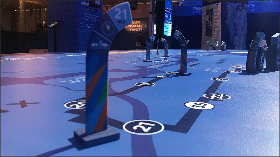 Color 3d printing New York City Marathon color 3d printed mile markers example three