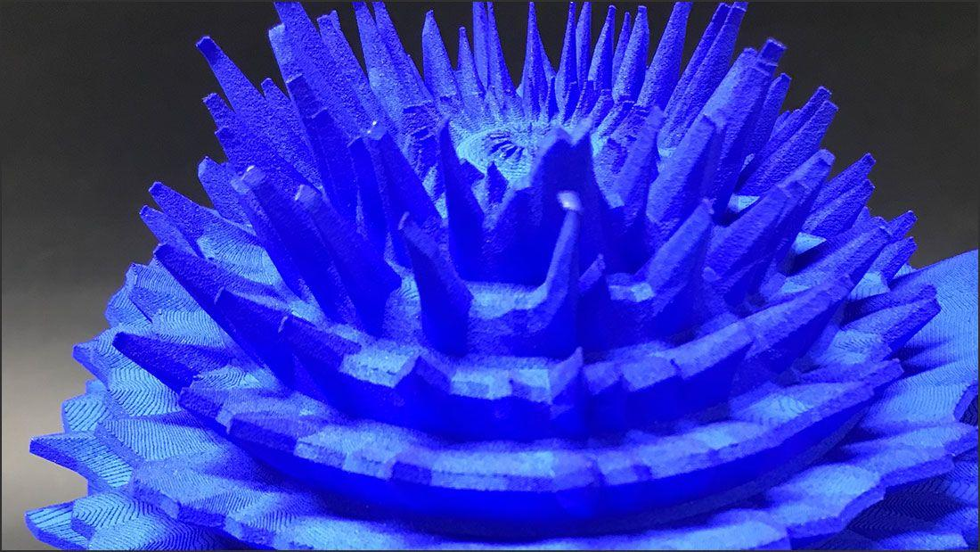 3d printing New York Smithsonian Institute two blue 3d printed sculptures example three