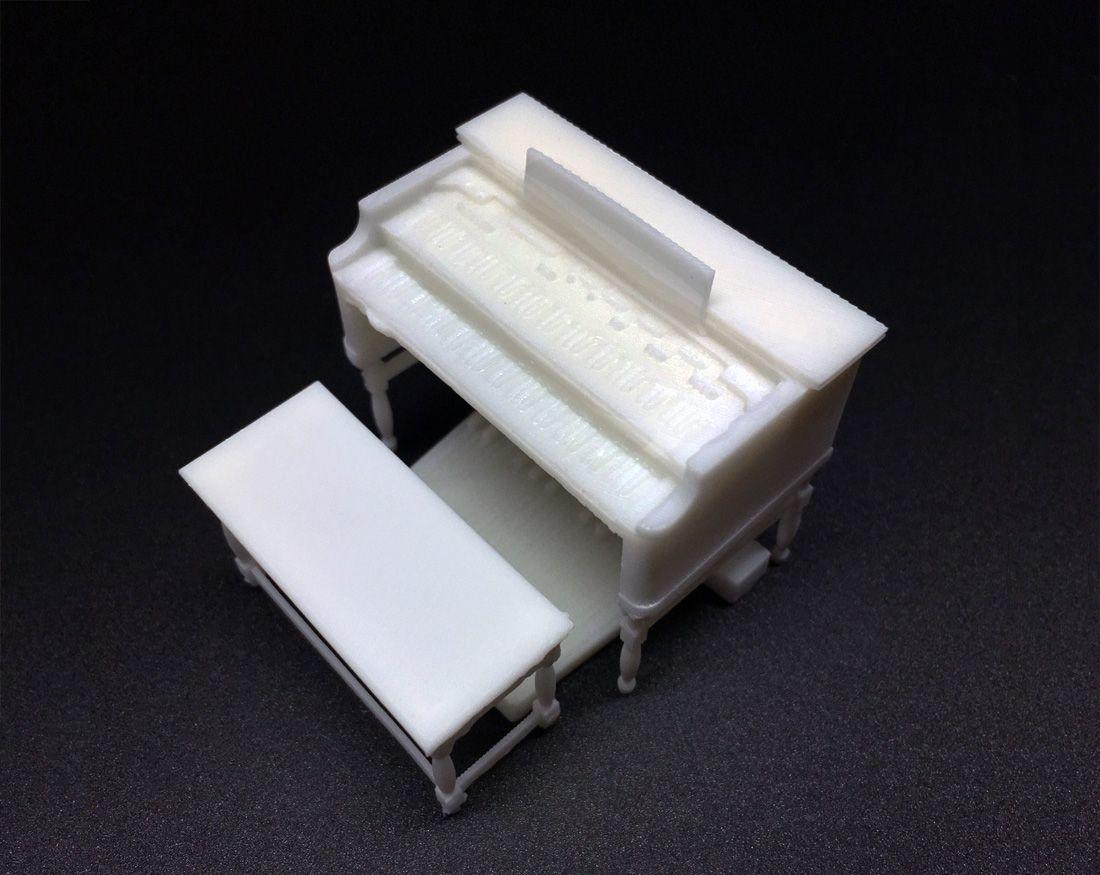 3d printed miniature set in SLA Formlabs resin